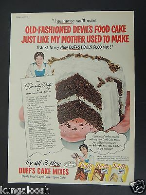 1951 Dorothy Duff For Duff's Cake Mixes Vintage Art Ad