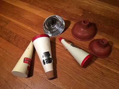 5 Trumpet Mutes: Stone lined, Selmer Styratone, Humes & Berg & 3 Cup Mutes