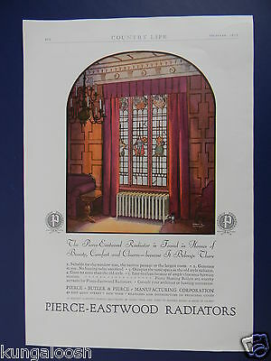 1927 Pierce Eastwood Radiator In Front Of A Stained Glass Window Sales Art Ad