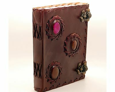 Handmade Paper Journal Leather Blank Book Of Shadow Diary Wicca Spell Keeper 7x5