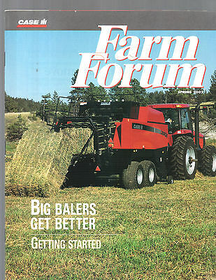 Spring 2002 Farm Forum Case International Tractor Magazine Brochure
