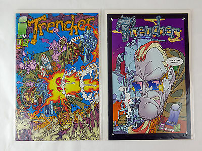 Image Comics TRENCHER Lot of 4 Comic Books Complete Set # 1 2 3 4 High Grade