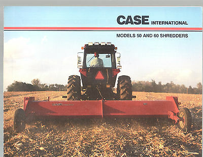 1980S Case International Tractor 50 60 Shredder Brochure
