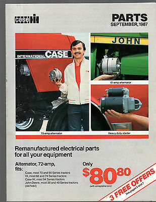 Sept 1987 Ih International Tractor Parts Brochure Catalog