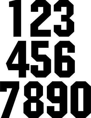 Iron On Number or Letters 50mm high Max. of 8 Sports Team Soccer Football Jersey