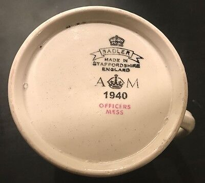 1940 Dated RAF Officers Mess AM Marked Jug - No Chips or Cracks