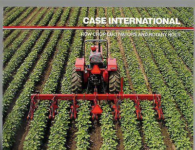 Case Ih International Tractor 183 Cultivator Rotary 181 Hoes  Brochure Catalog