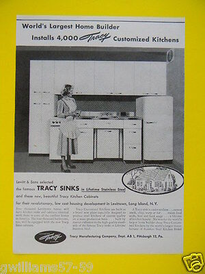 1948 Tracy Customized Kitchens In New Homes - Sales Photo Art Ad