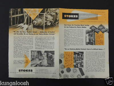 1953 Stokes Plastic Review. 4 Page (2 Sided) Vintage Ad