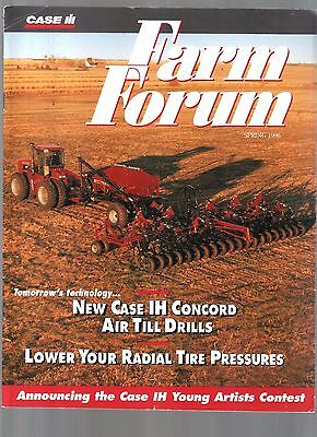 1996 Case Ih  International Tractor & Equipment Farm Forum Magazine Brochure