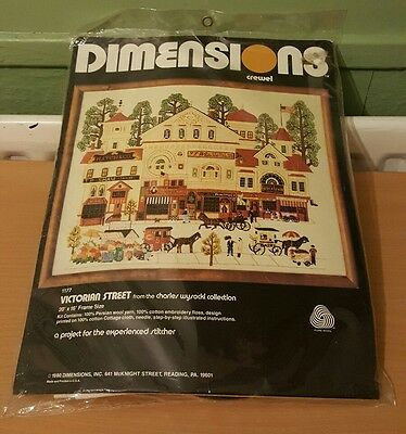 Dimensions Crewel victorian Street 1177 embridery kit