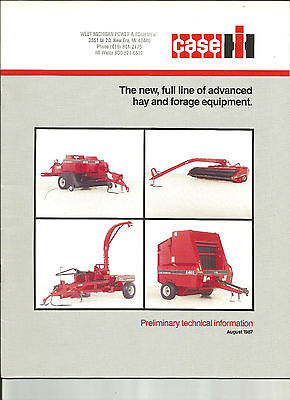 Case Ih International Tractor Hay And Forage Equipment Brochure