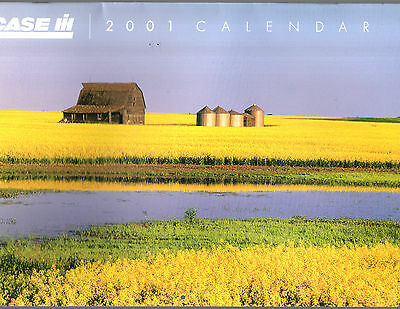 2001 Case International Tractor Combine Calendar Brochure