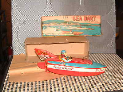 Bandai Nos Wind-Up Friction Driven Sea Dart In Original Box! Never Used/floated!