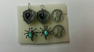 us silver coin lot and vintage sterling silver jewelry lot