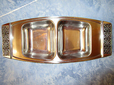 WILTSHIRE BURGUNDY  Vintage - RETRO ,VERSATILE  DOUBLE SIDED SERVING TRAY