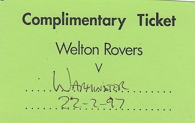 Ticket - Welton Rovers v Warminster Town 22.02.97