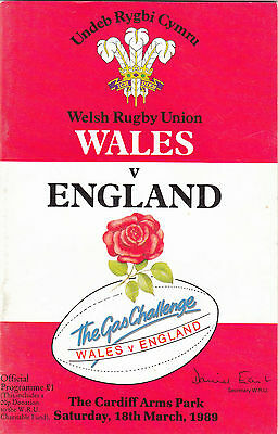 Wales v England 1989 @ Cardiff Arms Park