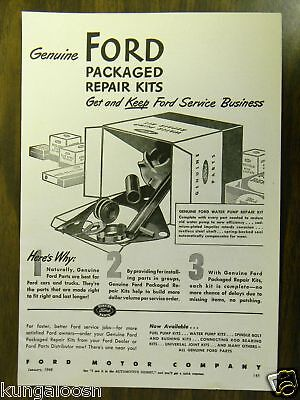 1948 Ford Motor Co Packaged Repair Kits Print Ad