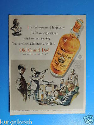 "1955 Old Grand-Dad ""head Of The Bourbon Family"" Whiskey Art Ad"