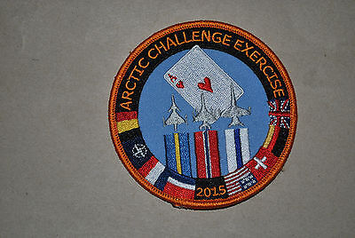 Rnoaf Airforce F-16 Exercise ''arctic Challenge 2015'' Patch