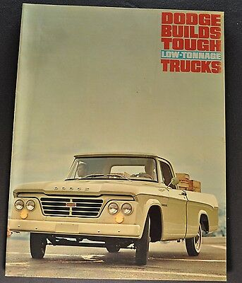1964 Dodge Truck Brochure Pickup Panel Town Wagon Stake D100 Excellent Original