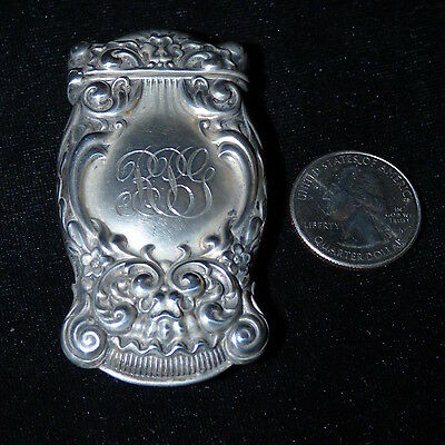 Antique Sterling Silver Victorian Vesta Case Match Safe By Whiting 19.7 Grams
