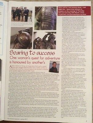 Amy Johnson Article From WES Magazine; Statue Herne Bay And Hull