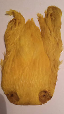 "India  Hen Cape     "" Yellow ""  Wet Hackle Fly Tying"