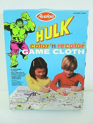 1979 Avalon Incredible Hulk Color'n recolor Game Cloth
