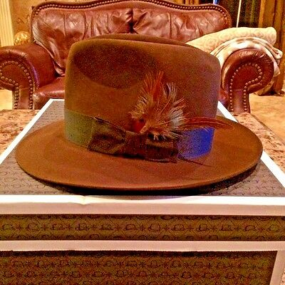 """Stetson Royal Stetson """"sutley"""" Brown Size 7 1/8 Great Looking Fedora!"""