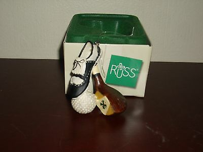 Russ Classic Memories Vintage Hand Painted Golf Sports Ornament
