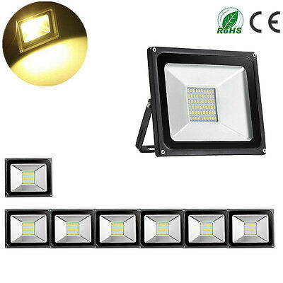 8X 30W LED Floodlight Warm White Outdoor Lamp IP65 Flood Light Waterproof