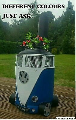 Vw Gas Bottle Woodburner/Stove/Chimnea /Patio Heater/Log burner/ Chiminea