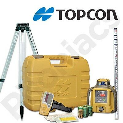 Topcon RL-H4C Self-Leveling Rotary Grade Laser Level W Tripod, Rod & Laser Glass