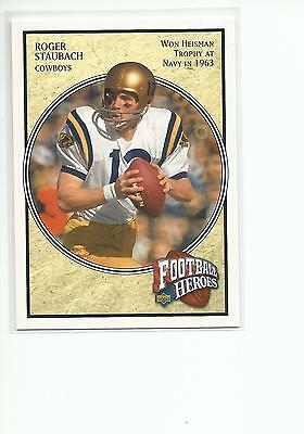 ROGER STAUBACH 2006 UD Heroes card #70 Navy Middies Dallas Cowboys Football NM