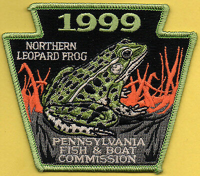Pa Pennsylvania Fish Commission NEW 1999 Leopard Frog Non-game Series patch
