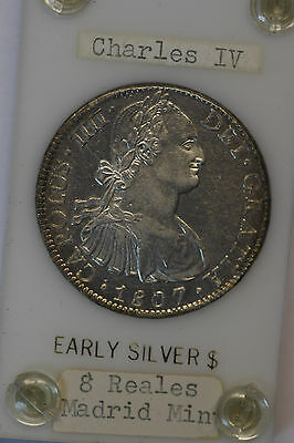 1807 Mexican 8 Reales (Pieces of Eight), Madrid Mint, World Crown