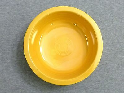 "Vintage Fiesta Yellow 8 1/2"" Nappy Serving Bowl - Fiestaware"