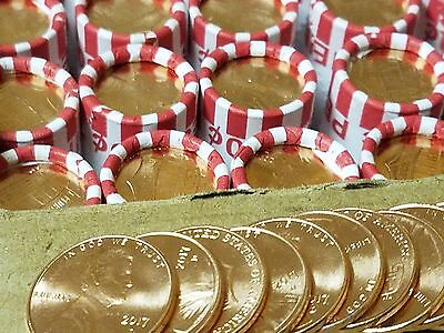 12 Rolls 2017-D UNC Penny Bank Rolls, Unsearched. Uncirculated. Lincoln Shield