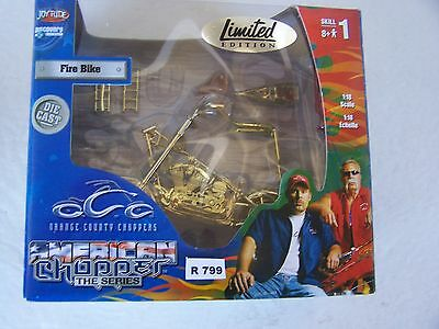 OCC  1/18  FIRE BIKE- LIMITED EDITION  ACTIVITY SET color gold motorcycle jr799