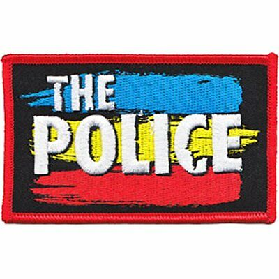 "The Police Logo Iron On Patch 4/"" x 2.3/"" Officially Licensed P-4162 Free Shipping"