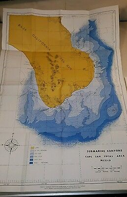 VTG 1964 MARINE GEOLOGY GULF OF CALIFORNIA Submarine Topography Canyons Troughs