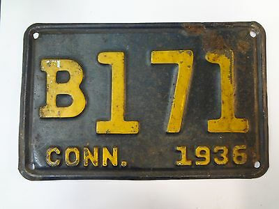 Connecticut License Plate 1936 - B171-