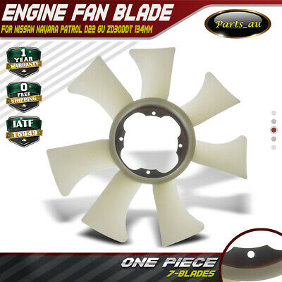 Radiator Fan Blade for Nissan Navara Patrol D22 GU 3.0L ZD30DDT 134mm across