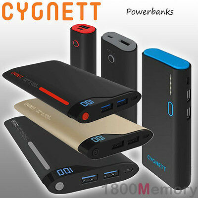 Cygnett ChargeUp Pro InCharge Power Bank Portable Battery fo Apple Android USB C