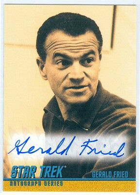 "Gerald Fried ""composer Autograph Card #a266"" Star Trek Tos Portfolio Prints"