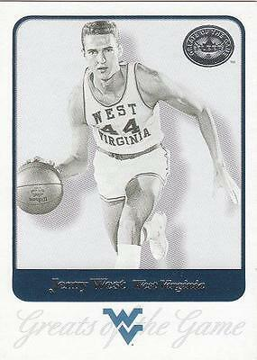JERRY WEST 2001 GOTG card WVU West Virginia Mountaineers Basketball NR MT
