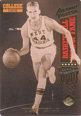 JERRY WEST 1993 card WVU West Virginia Mountaineers Basketball NR MT