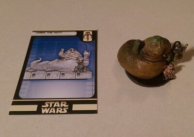 Star Wars Miniatures 2004 Rebel Storm JABBA THE HUT 50/60 with Card Very Rare